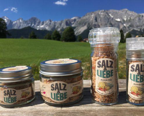Salz und Liebe - Bergsalz mit Ananas und Chili