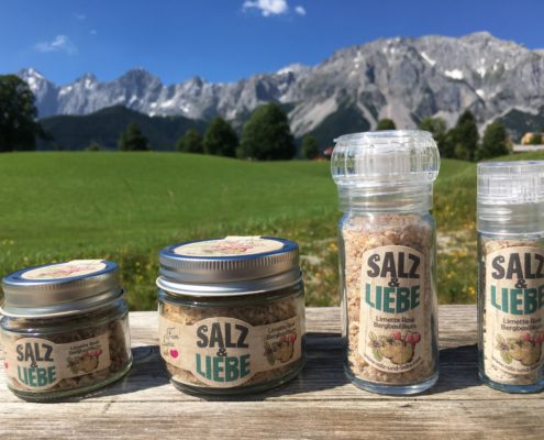 Salz und Liebe - Bergsalz mit Limette - Rosé - Bergbasilikum