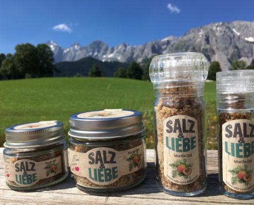 Salz und Liebe - Bergsalz mit Marille - Aprikose - Dill