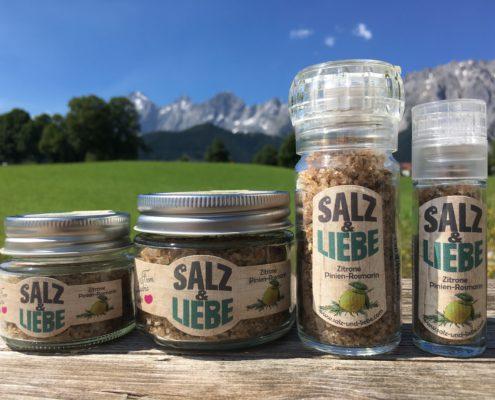 Salz und Liebe - Bergsalz mit Zitrone - Pinienrosamarin