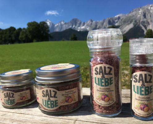 Salz und Liebe - Bergsalz mit Zwetschke - Orangenthymian
