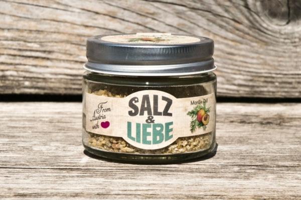 Salz und Liebe - Marille- Aprikose Dill - Bergsalz - Grobes Grillsalz