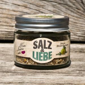 Salz und Liebe - Zitrone Pinienrosmarin - Grobes Grillsalz