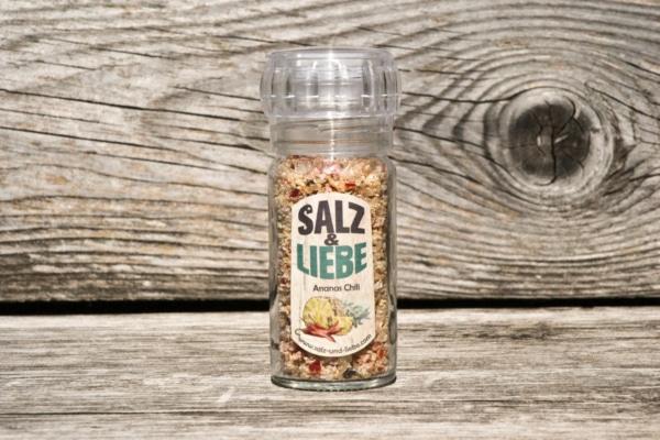 Salz und Liebe -Bergsalz Ananas Chili -Mühle mit Keramikmahlwerk