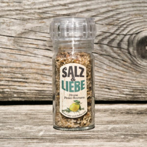 Salz und Liebe - Zitrone - Pinienrosmarin - Keramikmahlwerk