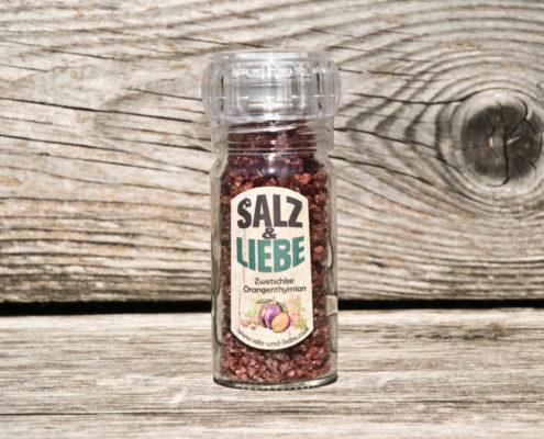Salz und Liebe - Zwetschke - Orangenthymian - Salz - Keramikmahlwerk
