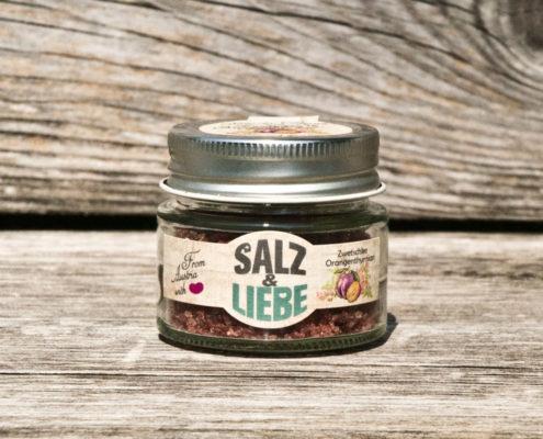 Salz und Liebe - Zwetschke - Orangenthymian Salz - grobes Grillsalz