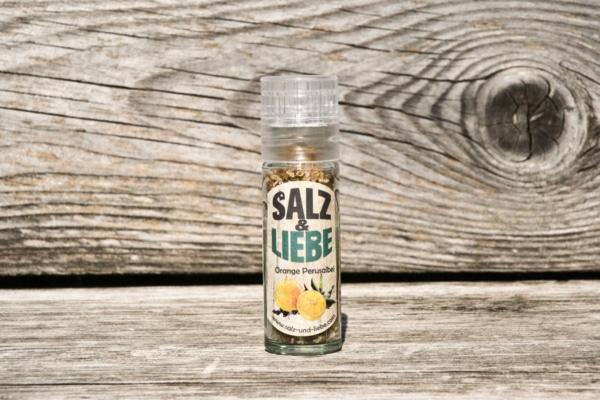 Salz und Liebe - Orange Peru Salbei Salz in der Minimühle - Grillsalz