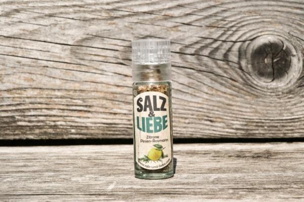 Salz und Liebe - Zitrone Linienrosmarin in der Minimühle - Grillsalz