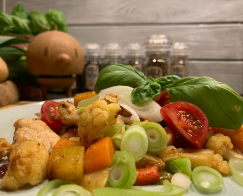 Gemüse mit Hühnchen und Salz&Liebe