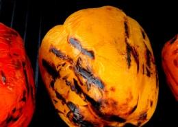 Rote und gelbe Paprika auf dem Grill